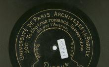 Disque des Archives de la Parole - Bibliothèque nationale de France