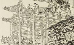 """""""Temple d'Ouyéno, à Yedo"""". Le Japon artistique n° 3 (juillet 1888). RESERVE 4-YA5-1. Vue 122"""