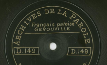 Enregistrements réalisés dans le village de Gérouville (Belgique) le 19 juillet 1912 (5 disques)