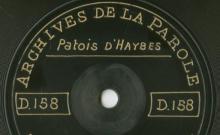 Enregistrements réalisés dans le village de Haybes le 25 juin 1912 (2 disques)