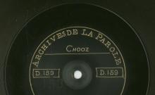 Enregistrements réalisés dans les villages de Chooz et Ham-sur-Meuse le 26 juin 1912 (2 disques)