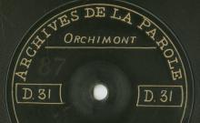 Enregistrements réalisés dans les villages de Rochehaut et Orchimont (Belgique) le 6 juillet 1912 (4 disques)