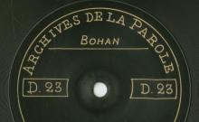 Enregistrements réalisés dans les villages de Bohan et Vresse (Belgique) le 5 juillet 1912 (6 disques)