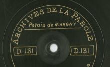 Enregistrements réalisés dans le village de Margny le 18 juillet 1912 (3 disques)