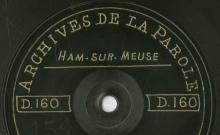 """Accéder à la page """"Phrases sur texte (patois de Ham-sur-Meuse) / Raphaelle Godissart (19 ans, couturière) ; Une prédiction réalisée (patois de Ham-sur-Meuse) / Alphonse Waslet (50 ans, tailleur de pierres)"""""""