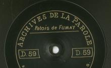 Enregistrements réalisés dans les villages de Hargnies et Fumay le 10 juillet 1912 (5 disques)