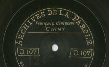 """Accéder à la page """"Sur le bord d'un ruisseau, j'aperçois un pigeon blanc... : chanson populaire (français dialectal de Chiny) / Marie Motche (47 ans, journalière), chant"""""""