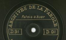 Enregistrements réalisés dans le village de Auby (Belgique) le 14 juillet 1912 (6 disques)