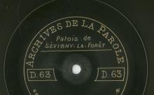 Enregistrements réalisés dans le village de Sévigny-la-Forêt le 11 juillet 1912 (3 disques)
