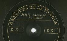 Enregistrement réalisé dans le village d'Anseremme (Belgique) le 8 juillet 1912 (1 disque)