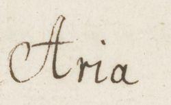"""Accéder à la page """"Aria"""""""