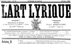"""Accéder à la page """"Art lyrique de Lyon (L')"""""""