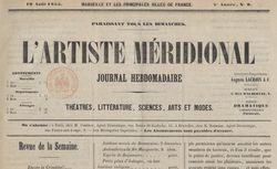 """Accéder à la page """"Artiste méridional (L')"""""""