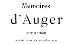 """Accéder à la page """"Auger, Mémoires"""""""