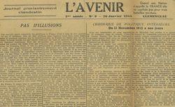 """Accéder à la page """"Avenir (L') Journal provisoirement clandestin """""""