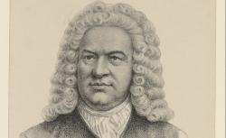 Johann Sebastian Bach, d'après le portrait attribué à G. Haussmann,  1900 - source : gallica.bnf.fr / BnF