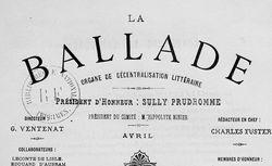 """Accéder à la page """"Ballade (La) Organe de décentralisation littéraire"""""""