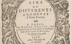 """Accéder à la page """"Les livres d'airs de différents auteurs"""""""
