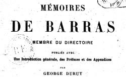 """Accéder à la page """"Barras, Paul, Mémoires"""""""