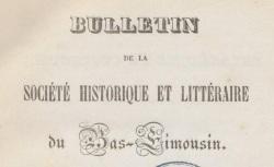 """Accéder à la page """"Société historique et littéraire du Bas-Limousin (Tulle)"""""""