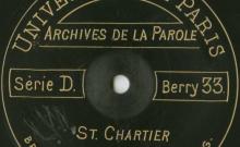 """Accéder à la page """"Chanson du laboureur : chanson ; Briolée aux boeufs : chant / Jean Berger (26 ans, garçon de ferme), chant ; Chanson à la jolie bergère / Gabriel Bonnin (63 ans, cultivateur), chant."""""""