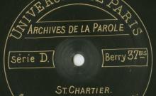 Enregistrements réalisés dans la petite ville de Saint-Chartier le 30 juin 1913 (10 disques)