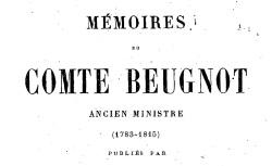"""Accéder à la page """"Beugnot, comte Jacques-Claude, Mémoires"""""""