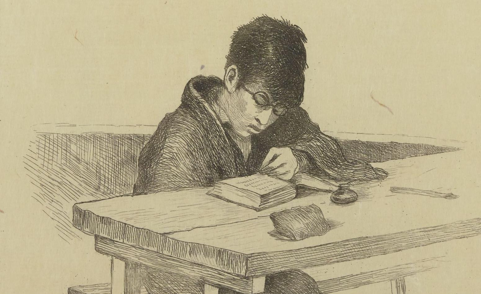 L'écolier. G. Bigot. Croquis japonais, 1886. PET FOL-OD-301. Vue 11