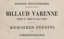 """Accéder à la page """"Billaud-Varenne, Mémoires inédits et correspondance"""""""
