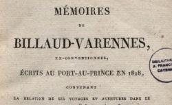 """Accéder à la page """"Billaud-Varenne, Mémoires écrits au Port-au-Prince en 1818"""""""