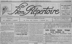 """Accéder à la page """"Bon répertoire (Le)"""""""