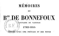 """Accéder à la page """"Bonnefoux, baron de, Mémoires"""""""