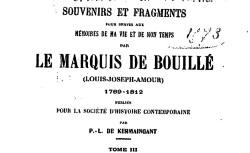 """Accéder à la page """"Bouillé, marquis de, Souvenirs et fragments (1789-1812)"""""""