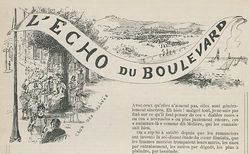 """Accéder à la page """"Echo du boulevard (L')"""""""