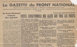 """Accéder à la page """"Gazette du Front national (La) (Région de la Loire) """""""