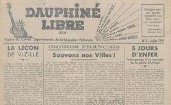 """Accéder à la page """"Dauphiné Libre (Le)"""""""