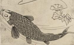 F.Bracquemond. Grand poisson (Service Rousseau), 1866. EF-411 (6)-FOL