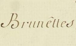 """Accéder à la page """"Brunette"""""""