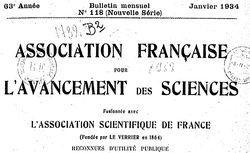Bulletin mensuel de l'Association française pour l'avancement des sciences