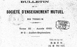 """Accéder à la page """"Bulletin de la Société d'enseignement mutuel du Tonkin"""""""