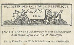 """Accéder à la page """"Bulletin des lois de la République française"""""""
