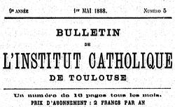 """Accéder à la page """"Bulletin de l'Institut catholique de Toulouse"""""""