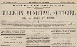 """Accéder à la page """"Bulletin municipal officiel de la Ville de Paris """""""
