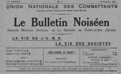 """Accéder à la page """"Bulletin noiséen (Le)"""""""