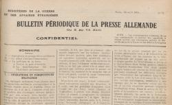 """Accéder à la page """"Bulletin périodique de la presse allemande"""""""