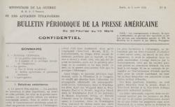 """Accéder à la page """"Bulletin périodique de la presse américaine"""""""