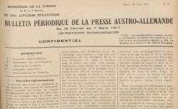"""Accéder à la page """"Bulletin périodique de la presse austro-allemande (question économiques)"""""""