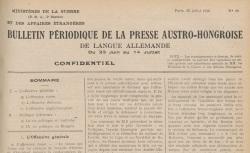 """Accéder à la page """"Bulletin périodique de la presse autrichienne"""""""