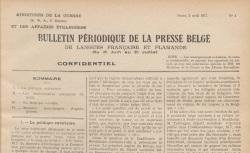 """Accéder à la page """"Bulletin périodique de la presse belge"""""""