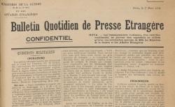 """Accéder à la page """"Bulletin quotidien de presse étrangère"""""""